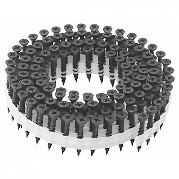 Coil Magazinschrauben 3,9×25 PS Faserplattenschrauben mit Hi-Lo Gewinde PH2