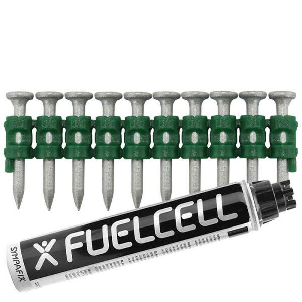 Fuel Cell Pack Betonnägel C5-2,6×15 NK (Stahl/verzinkt) inkl. Gas