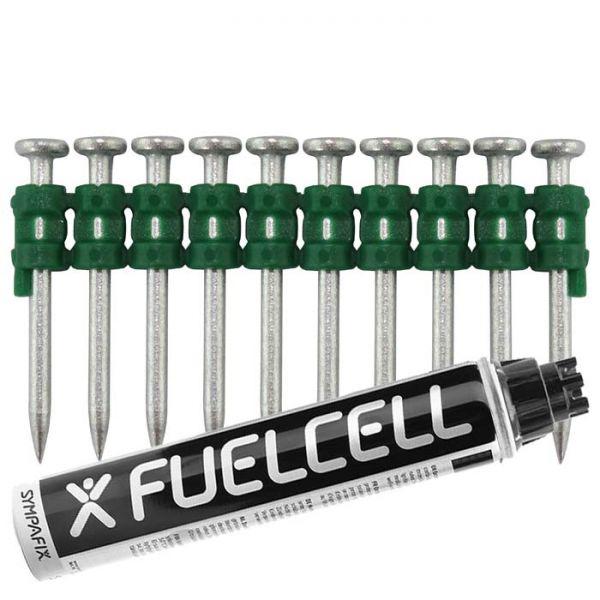 Fuel Cell Pack Betonnägel C5-2,6×35 NK (Stahl/verzinkt) inkl. Gas