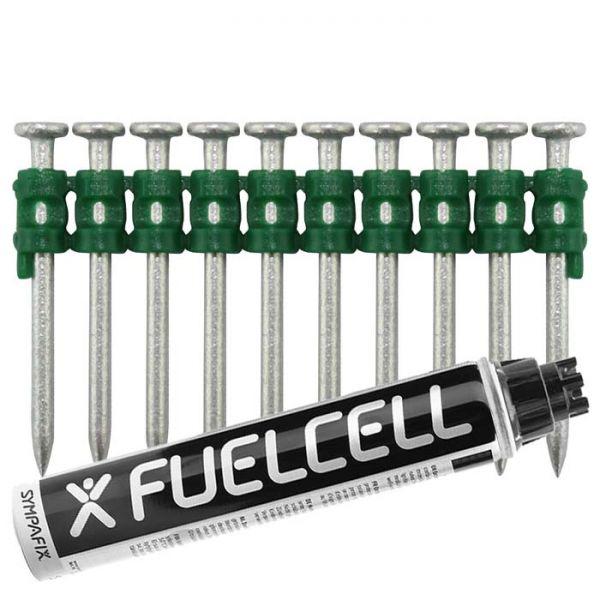 Fuel Cell Pack Betonnägel C5-2,6×40 NK (Stahl/verzinkt) inkl. Gas
