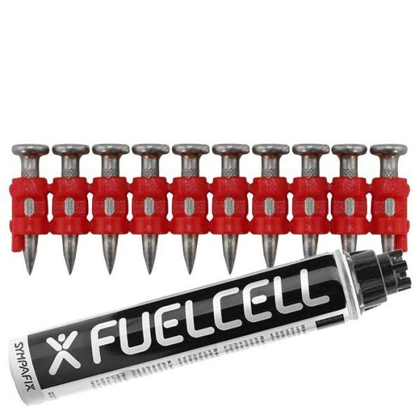 Fuel Cell Pack Betonnägel C5-3,0×22 XH NK (Extra harter Stahl/verzinkt) inkl. Gas