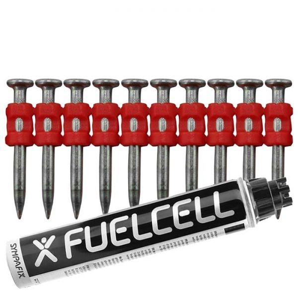 Fuel Cell Pack Betonnägel C5-3,0×32 XH NK (Extra harter Stahl/verzinkt) inkl. Gas