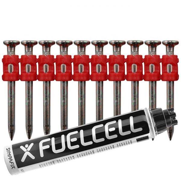 Fuel Cell Pack Betonnägel C5-3,0×38 XH NK (Extra harter Stahl/verzinkt) inkl. Gas