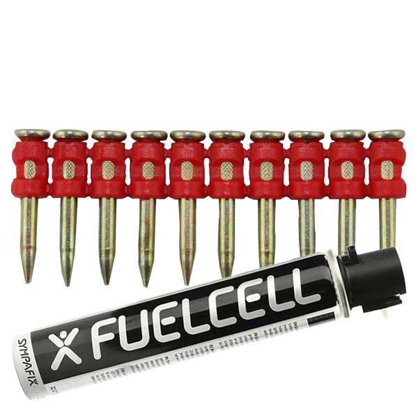 Fuel Cell Pack Betonnägel GT3C-3,0×27 XH NK (Extra harter Stahl/verzinkt) inkl. Gas
