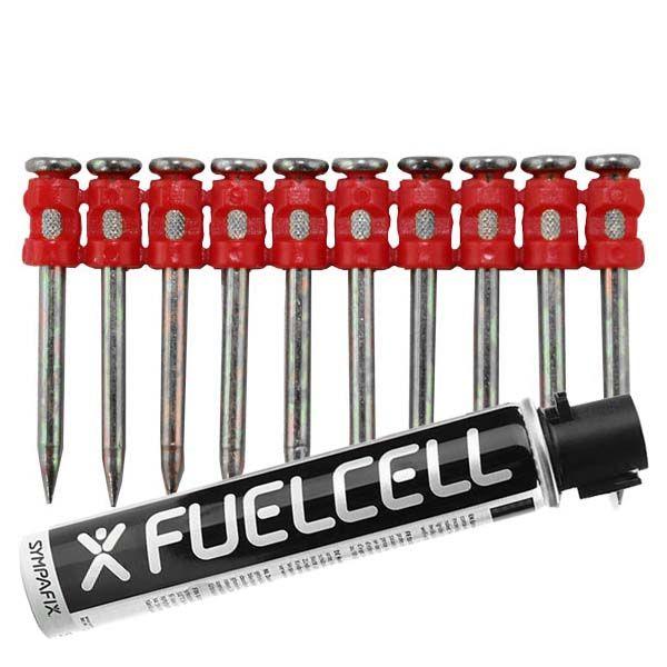 Fuel Cell Pack Betonnägel GT3C-3,0×38 XH NK (Extra harter Stahl/verzinkt) inkl. Gas