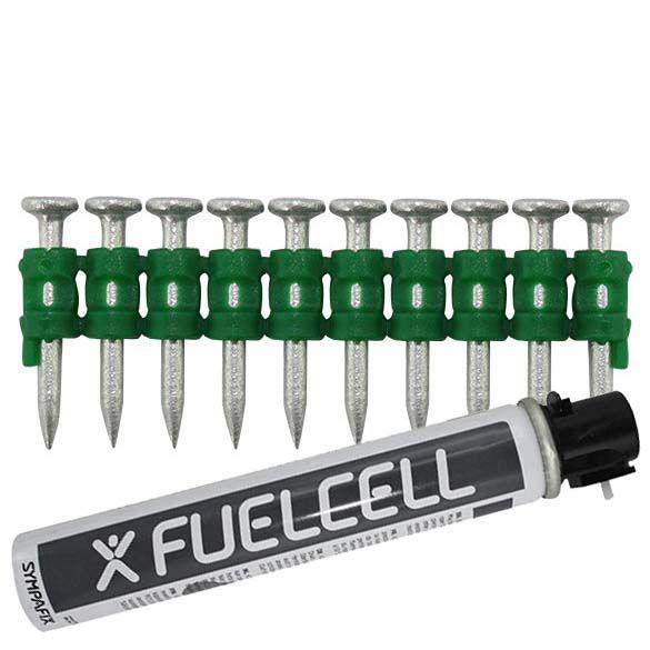 Fuel Cell Pack Betonnägel GT4C-2,6×25 NK (Stahl/verzinkt) inkl. Gas