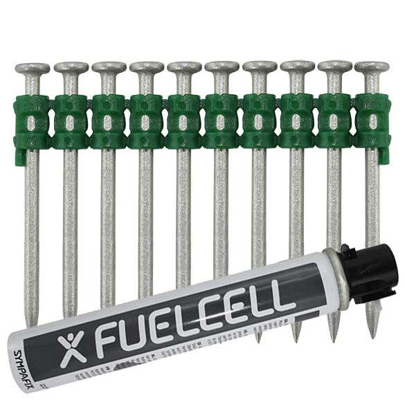 Fuel Cell Pack Betonnägel GT4C-2,6×50 NK (Stahl/verzinkt) inkl. Gas