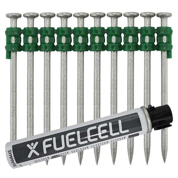Fuel Cell Pack Betonnägel GT4C-2,6×60 NK (Stahl/verzinkt) inkl. Gas