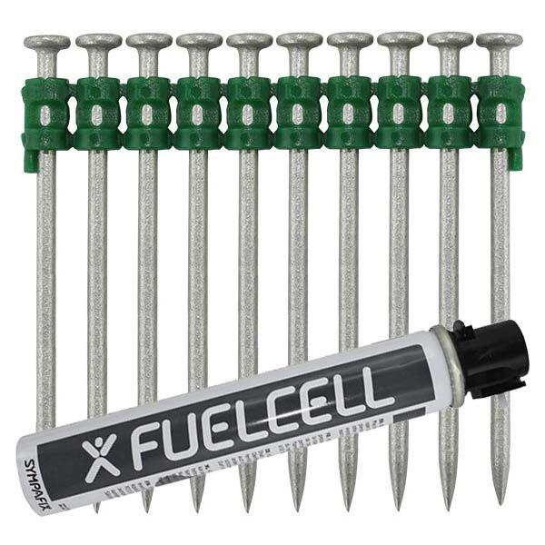Fuel Cell Pack Betonnägel GT4C-2,6×65 NK (Stahl/verzinkt) inkl. Gas