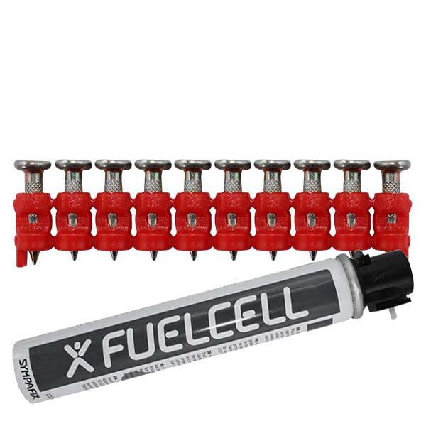 Fuel Cell Pack Betonnägel GT4C-3,0×17 XH NK (Extra harter Stahl/verzinkt) inkl. Gas
