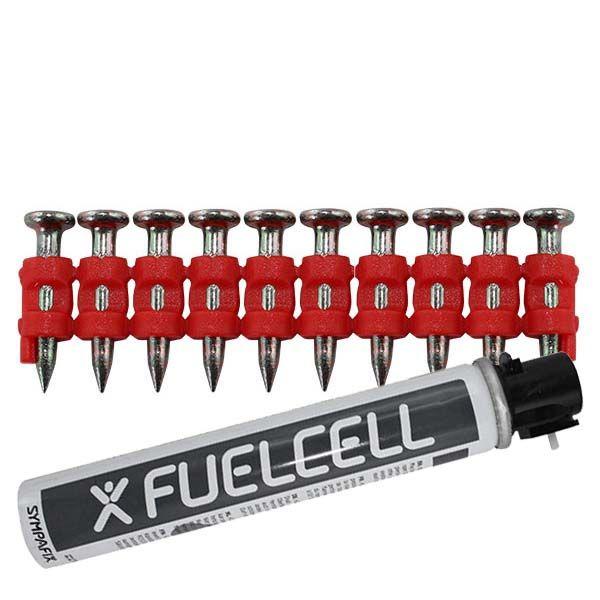 Fuel Cell Pack Betonnägel GT4C-3,0×22 XH NK (Extra harter Stahl/verzinkt) inkl. Gas