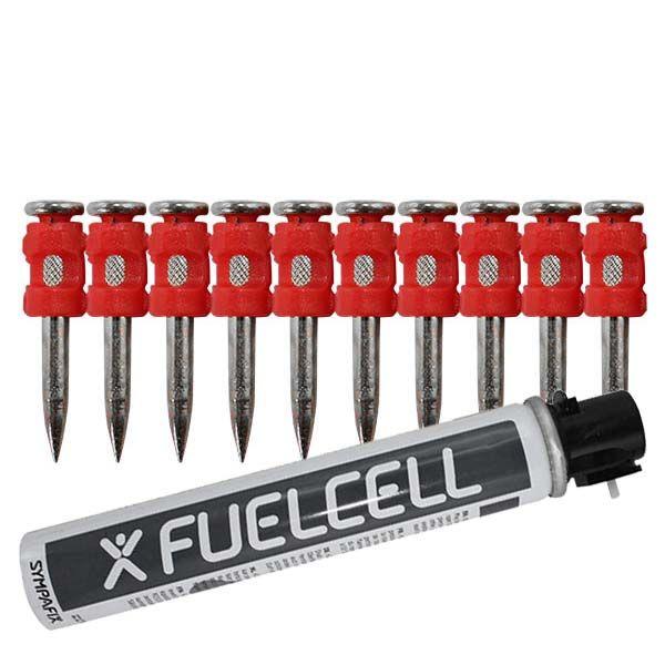 Fuel Cell Pack Betonnägel GT4C-3,0×27 XH NK (Extra harter Stahl/verzinkt) inkl. Gas