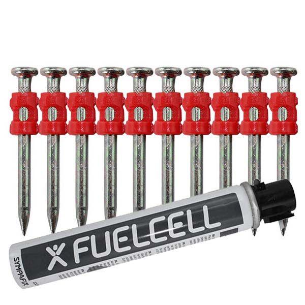 Fuel Cell Pack Betonnägel GT4C-3,0×38 XH NK (Extra harter Stahl/verzinkt) inkl. Gas