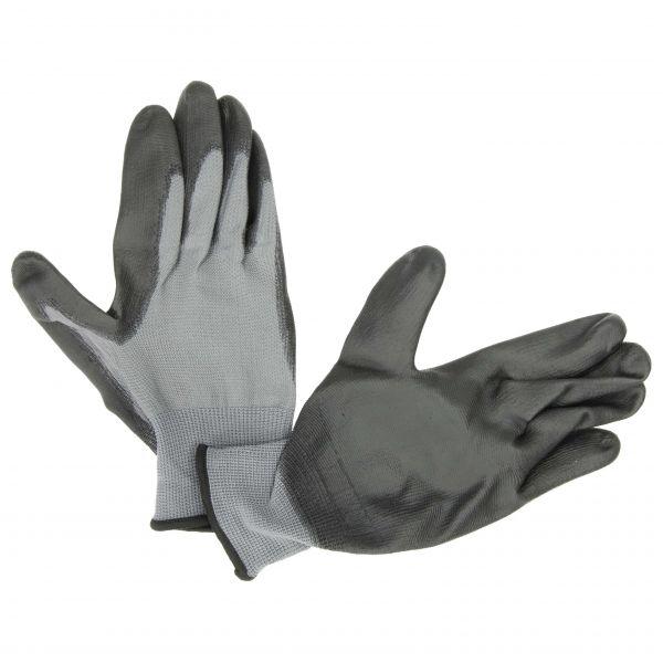 Handschuh Latex grau/schwarz Größe 8